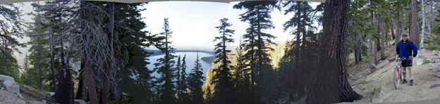 Lake Tahoe Rim Trail offers a spectacular view of the Lake.  This trail is just 20 minutes from Accommodation Tahoe's Lake Village vacation rentals.