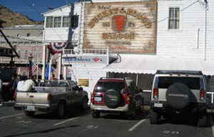 If you drive a pickup truck, a SUV or a Hummer you can visit the Bucket of Blood Saloon in Virginia City a preserved mining town of the old west.