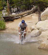 An Accommodation Tahoe guest enjoys  a good ride.